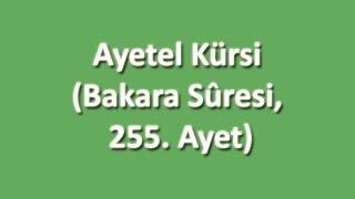 Ayetel Kürsi Arapça ve Türkçe Oku Dinle İzle - www.oku.gen.tr
