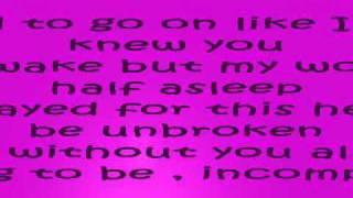 Incomplete Backstreet boys Lyrics