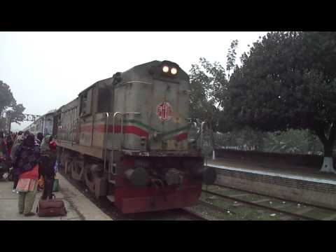 Bangladesh Railway 763 Up Chittra Intercity Express is speedy Crossing Doulotpur Railway Station.MP4