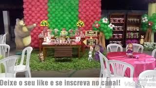 🔴#mashaeourso Decoração Masha e o Urso/MASHA E O URSO