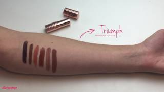 Swatches Renaissance lipstick Makeup Revolution