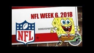 2018 NFL Week 6 Portrayed by Spongebob