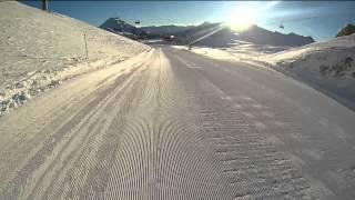 Morgens Skifahren