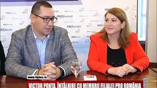 Victor Ponta, întâlnire cu membrii filialei Pro România