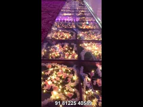 LED Glass Floor Digital Wedding Marriage Reception Event Stage Decoration Technology Chennai , Bangalore 91 81225 40589