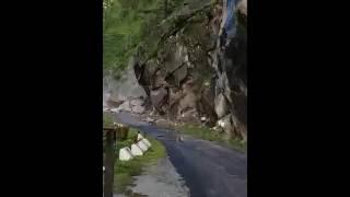 Live Massive landslide in Gangotri Uttarakhand
