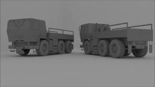 Blender 3D - Medium Tactical Vehicle Modeling #Timelapse