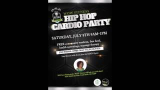 HIP HOP CARDIO PARTY   JULY 8, 2017