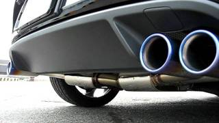 Blue wave muffler of Quad Style for Golf6 GTI