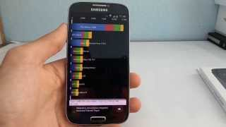 Samsung Galaxy S4 (GT-I9505) Quadrant benchmark video | Tech2.hu