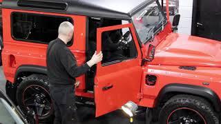 Lava Orange Land Rover Defender 90