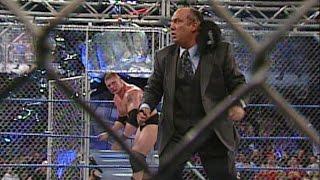 Brock Lesnar vs. Paul Heyman: Steel Cage Match - SmackDown: March 6, 2003 width=