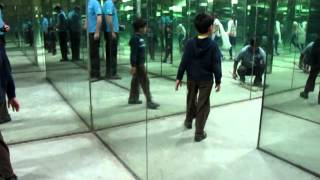 AW, Rahil:  Rahil in National Science Centre mirror maze  (20 Nov 2011)
