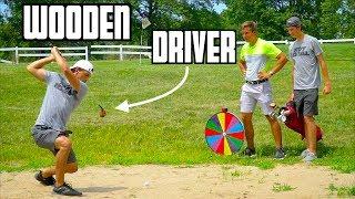 Random Wooden Golf Club Challenge | Wheel Of Not Ideal