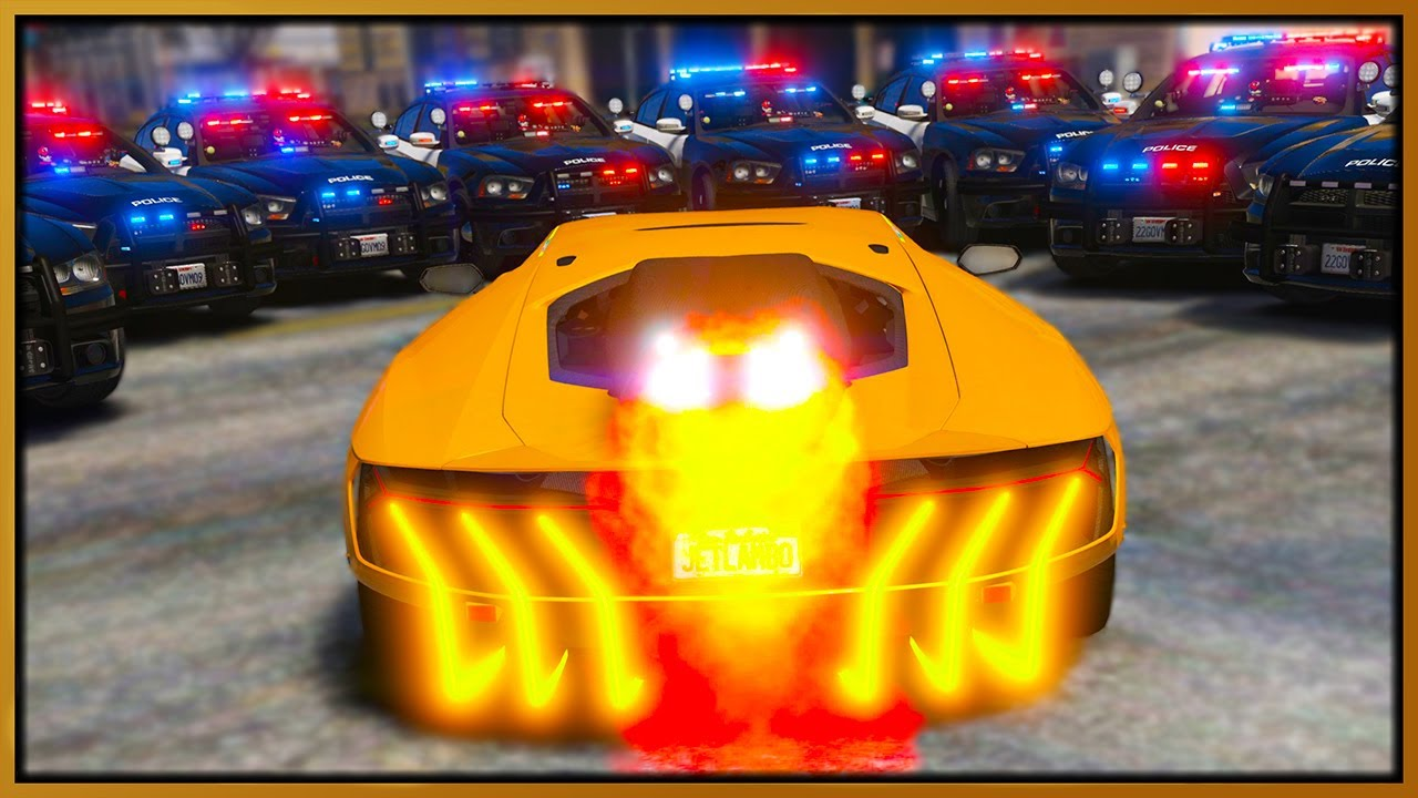 Elanip - GTA 5 Roleplay - JET ENGINE LAMBORGHINI DESTROYING COPS | RedlineRP