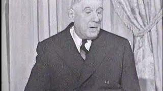 """Charles de Gaulle """"Il faut le progrès, pas la pagaille"""""""