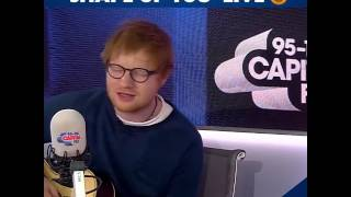 Ed Sheeran singing 'Shape Of You' LIVE Capital FM