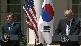 DPRK, trade issues in focus during Moon-Trump meeting
