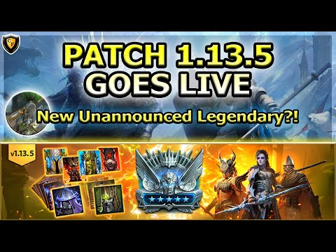 RAID Shadow Legends | PATCH 1.13.5 GOES LIVE | New Unannounced Legendary?!