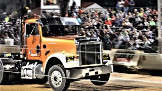 Lucas Oil Hot Rod Semi Trucks Pulling At Buck