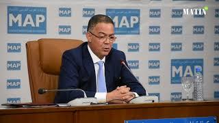 Fouzi Lekjaa se livre à la presse au forum de la MAP