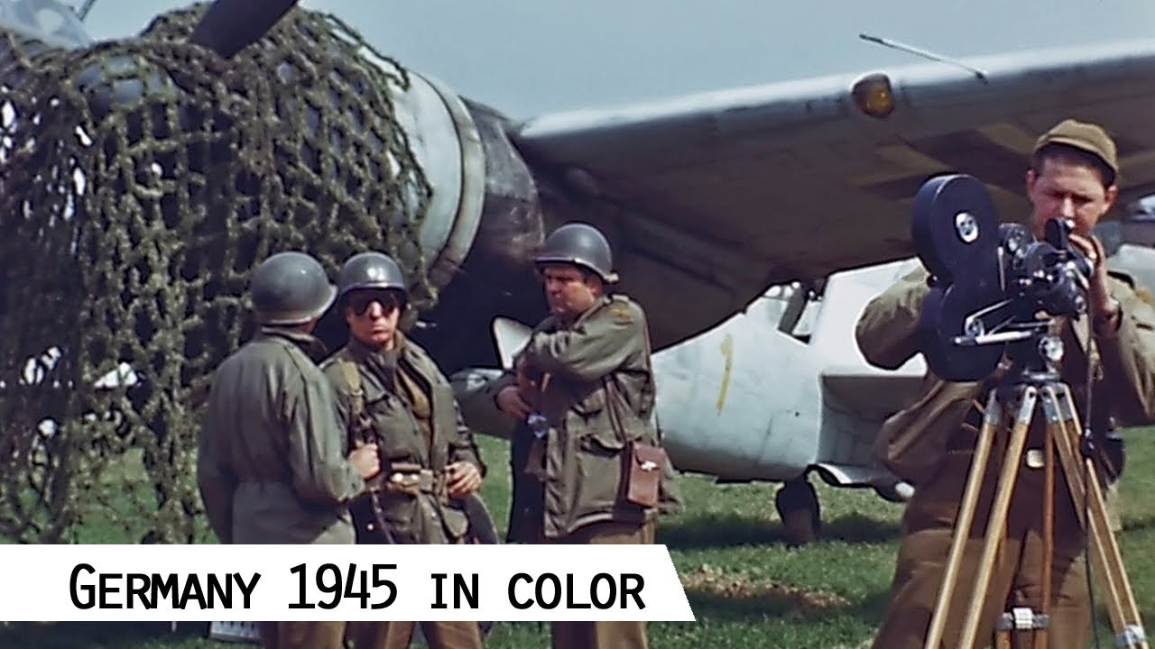 Germany 1945 : Sensationally Restored Film footage by George Stevens