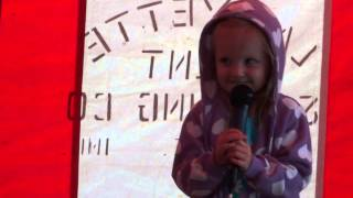Emi sings Karaoke Twinkle Twinkle Little Star Kids song at local Fair
