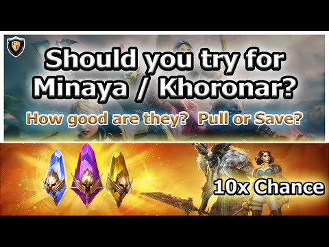 RAID Shadow Legends | Should you try for Minaya / Khoronar? | How good are they?