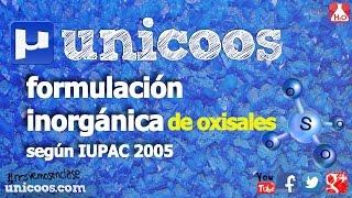 Imagen en miniatura para Oxisales según IUPAC 2005