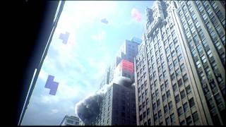 New York under pixels attack ! 8-Bits pixels destroy the world !