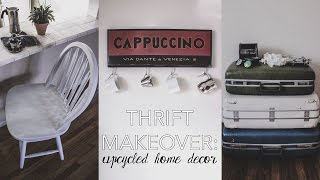 Thrift Makeover: Upcycled Home Decor