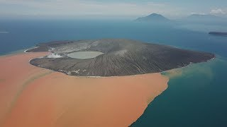 Anak Krakatau Volcano Incredible Drone Footage After Collapse & Major Eruption width=