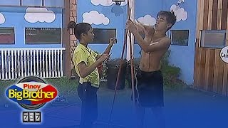 PBB 737: Bailey, Ylona live in the garden