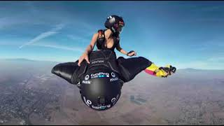 GoPro Fusion 360VR wingsuit Rodeo