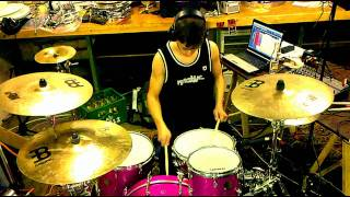 Binz - UNDEROATH - moving for the sake of motion (Drum Cover) w/ Lyrics [HD]