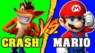 Crash Bandicoot VS Super Mario - Battaglia Rap Epica - Manuel Aski