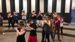 "Vocal Roar Show Choir ""Wake Me Up"" Avicii Choreography 1/24/2017"