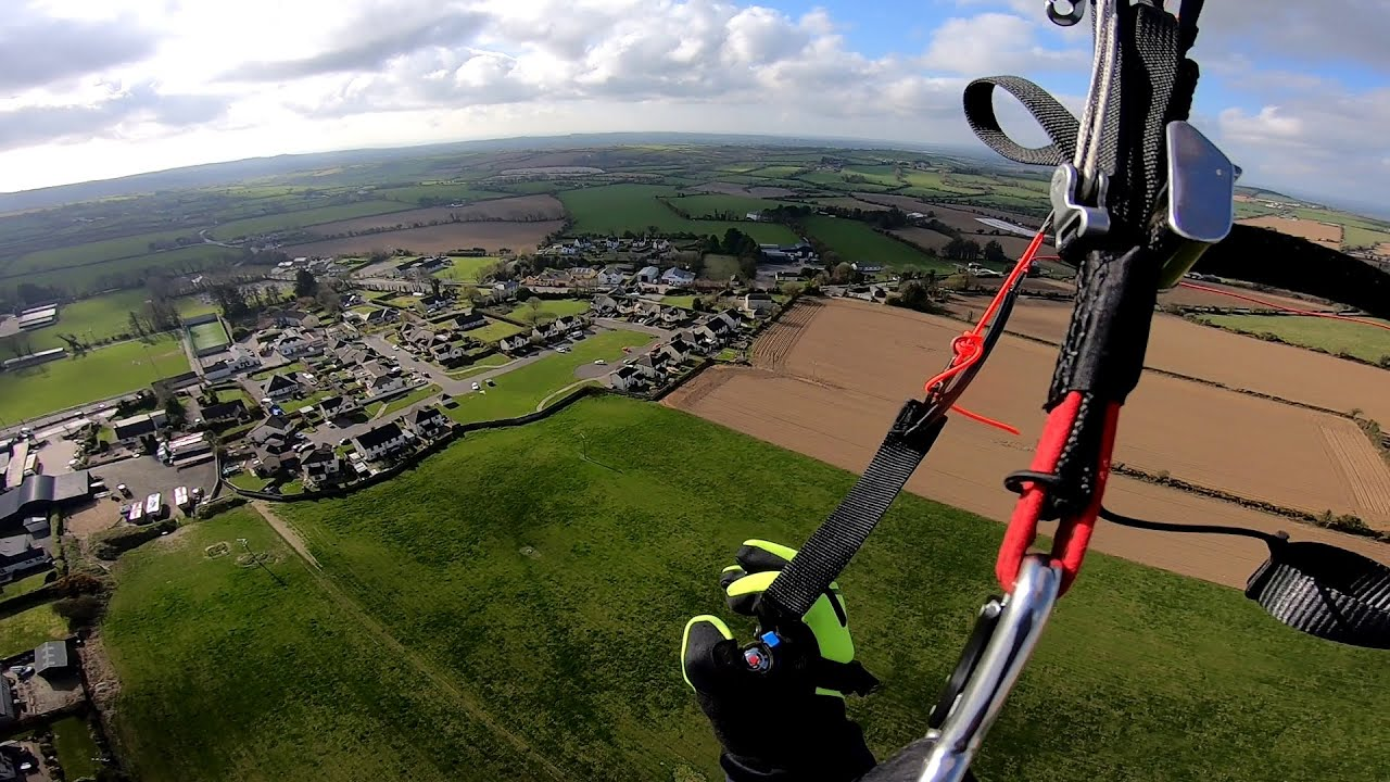 Beautiful Spring day Paramotor Flight with Friend .. Ireland .. Easter 2021