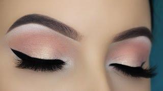 Easy Soft Peachy Eye Makeup Tutorial width=