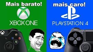 Comparação de preços de alguns jogos XBOX LIVE e PSN