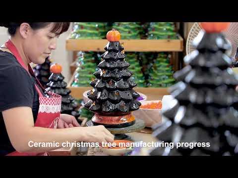 How the artificial Christmas tree and ceramic Christmas tree made?
