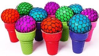 Pelotitas Antiestres De Slime - Aprender los colores En Ingles Para Niños width=