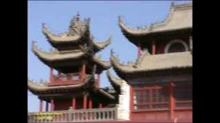 Yinchuan: Trommelturm Südtor Yuhuang-Pavillon Pavilion Drum Tower South Gate / 银川市: 鼓楼 玉皇阁 城市中心点 南门楼