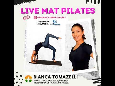 Live com a Instrutora de Pilates - Bianca Tomazelli será hoje. às 19 horas! - Cidade Portal