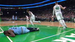 Jaren Jackson Jr. Fails At Shooting While Sitting Down vs. Boston Celtics
