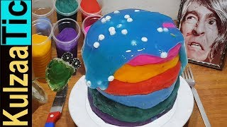EATING PLAY-DOH SLIME CAKE!! ASMR Kulzaa Tic #131 | Eating Sounds | Fake Eating Don't Try