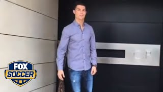 Ronaldo takes fans on a tour of his house width=