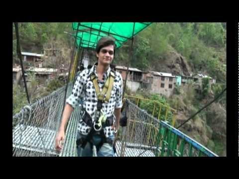 DJ Ravish Doing Canyon Swing (Bungy Swing) In Nepal