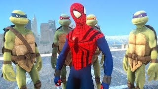 Teenage Mutant Ninja Turtles VS SPIDERMAN - Sensational Spider-Man