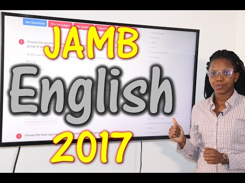 JAMB CBT English 2017 Past Questions 1 - 20